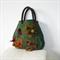 Felted Bag Medium Handbag Brown Green