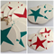 Christmas star linocut letterpress gift tags , pack of 10