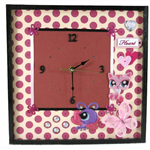 Wall Clock, Modern Wall Art In Pink for Girls Bedroom decor, Nchanted Gifts