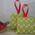 Lavender Bags - Lime Green Organic