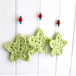 Christmas Stars | crochet hanging decoration | ornament | citrus green