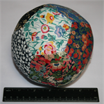 Handmade patchwork ball  Vintage Liberty of London  - rattle inside