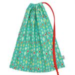 LAST ONE! Library Bag or Toy Bag for Boys. Large Drawstring Bag. Retro Diamonds