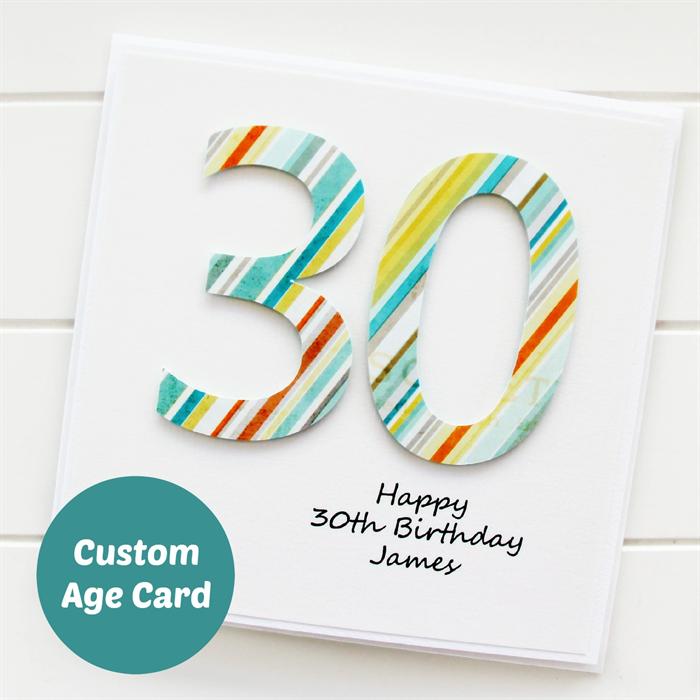 Any Age For Him Birthday Card Custom Happy Birthday 18 21 30 40 50