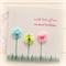 birthday card for her cotton flowers handmade