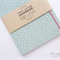 Pastel Turquiose Dots Upcycled Fabric Covered Notebook
