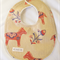 Pony Floral Folk Art Textured Country Sandy Bib, Double Layered Cotton Backing