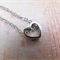Rhodium Heart Necklace