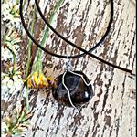 Polished Smoky Quartz Wire Wrapped Crystal Necklace