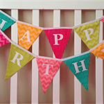 Tutti Frutti Happy Birthday Bunting (Bedroom Party Flags Decoration)