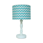 Aqua blue chevron lampshade for table lamps - small size