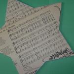 Chalkboard Christmas Music Star (Away in a Manger)