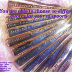 10 x Hand Stamped Spoons,You Choose quotes ,teaspoon,stocking stuffer,Christmas