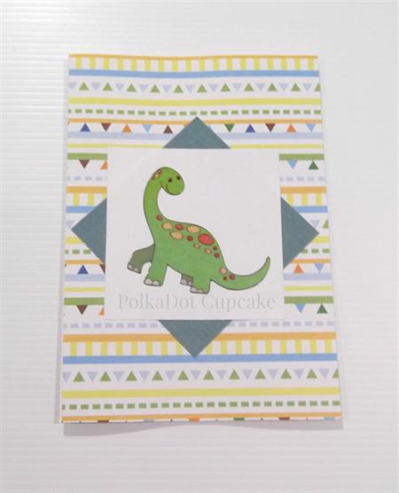Dinosaur Birthday Card - Boy