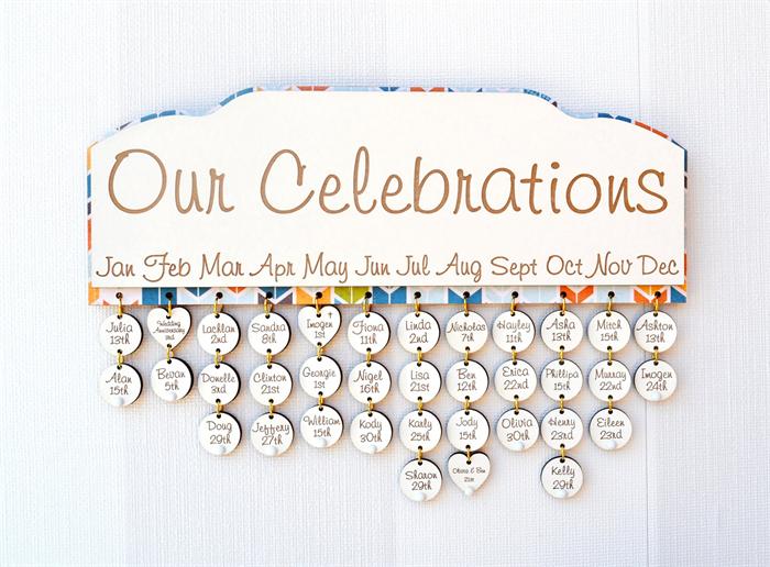 Family Birthday Calendar Arrows Miss Bold Design Madeit Com Au