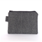 Herringbone Medium Zipper Pouch in Black and Grey