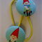 Christmas elves fabric button hairties