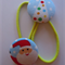 Christmas Santa fabric button hairties