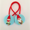 Christmas Elves fabric button hairties