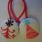 Christmas tree fabric button hairties