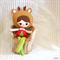 Christmas Deer Girl Doll Ready to post