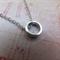 Rhodium Circle Necklace