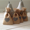 150 x Hessian Wedding Favor Bags with Grey Heart