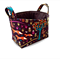 Fabric Storage Organiser Bin Basket - Woodland Fox Forest Animals