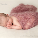 SALE Mohair Photography Blanket / Wrap / Dusky Pink / Shell Pattern