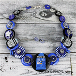Exterminate - Who in Blue - Button Necklace - Jewellery - Bonus Earrings