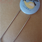 Yellow Helicopter overed Button Paperclip Bookmark