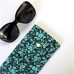 Peggy-Sue Glasses/Pencil Case - Pretty Petite Blue Flowers on Navy