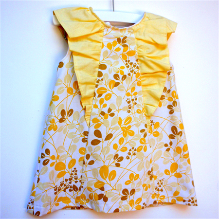 Lemon Kisses Party Dress ~ Sizes 1, 2, 3, 4 , 5