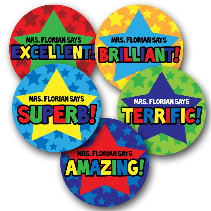 Super starry personalised stickers for teachers