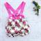 Vintage bouquet suspender shorts