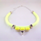 Neon Yellow rope statement necklace