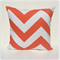 Tangelo Orange Chevron Zig Zag Cushion Cover - Pattern 2 - Retro Cushions