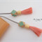 Peach/Mint Tassel Bookmark