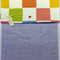 Fabric Folder Document , homework Storage, Purple, pink, pastel Bunny window