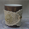 SALE Cream and Gold Mug Cosy Made of Cotton