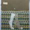 Fabric Folder, Homework, Document Storage Wallet, Two Socks aqua and Beige.