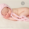 Textured Bonnet /Newborn Photography Prop / Pale Pink