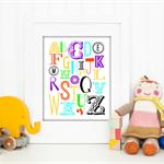 Alphabet Print, Nursery