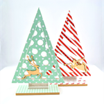 Wooden Christmas Trees - Set of Two
