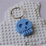 SKULL DAYS - awesome skull shaped bag tag handmade in blue resin