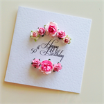50th happy birthday ANY AGE her pink paper roses happy birthday mum friend card