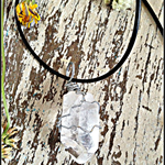 Raw Clear Quartz Wire Wrapped Crystal Necklace