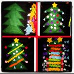 A 30cm Christmas tree & 51 felt pieces to decorate