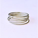 Stacking rings, sterling silver, set of five, knuckle rings