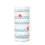 Boys room lampshade, nautical fabric cylinder & optional lamp base